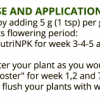NutriNPK Bigger Buds - Directions for use