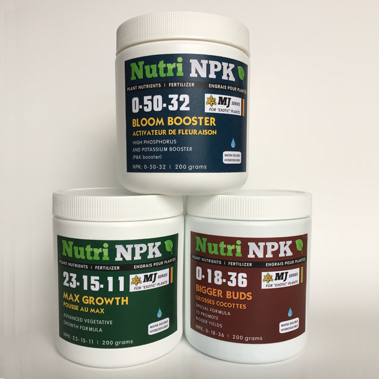 Cannabis Fertilizer Starter Kit Combo - NutriNPK