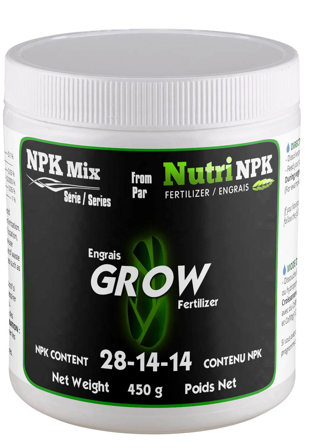 GROW Cannabis Fertilizer - NPK Mix by NutriNPK